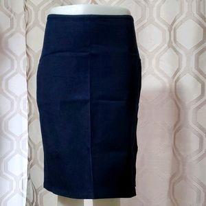 2/$40 BNWOT Stretch knee length denim skirt